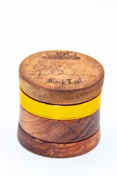 Holz-Alu Grinder für Blüten und Kräuter