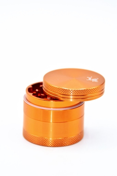 black leaf alugrinder orange